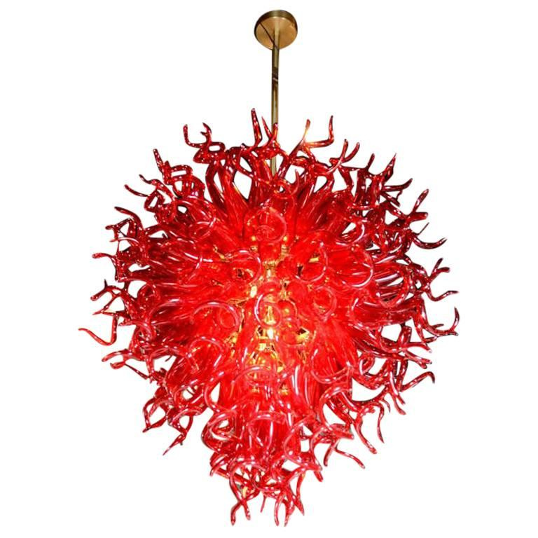 Dale chihuly style murano glass chandelier for sale at 1stdibs dale chihuly style murano glass chandelier for sale aloadofball