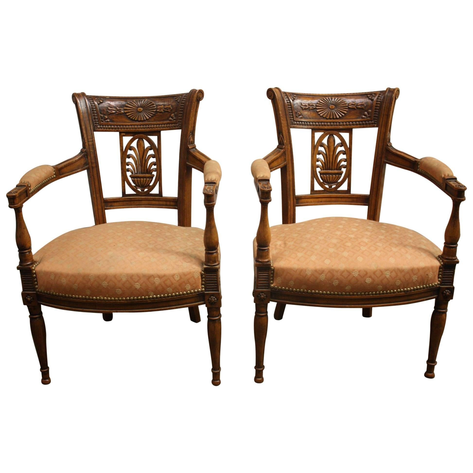 Beautiful Pair of 19th Century French Armchairs