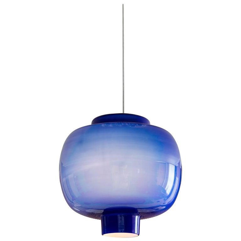 Vintage Vistosi Glass Ceiling Light