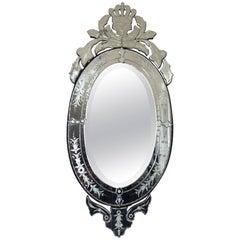 Very Glitzy Oval Venetian Style Mirror