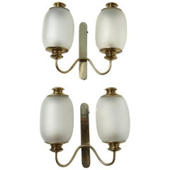 Luigi Caccia Dominioni by Azucena Sconces Pair, Wall Lamps