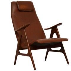 1950s Dutch Vintage Armchair by Louis Van Teeffelen