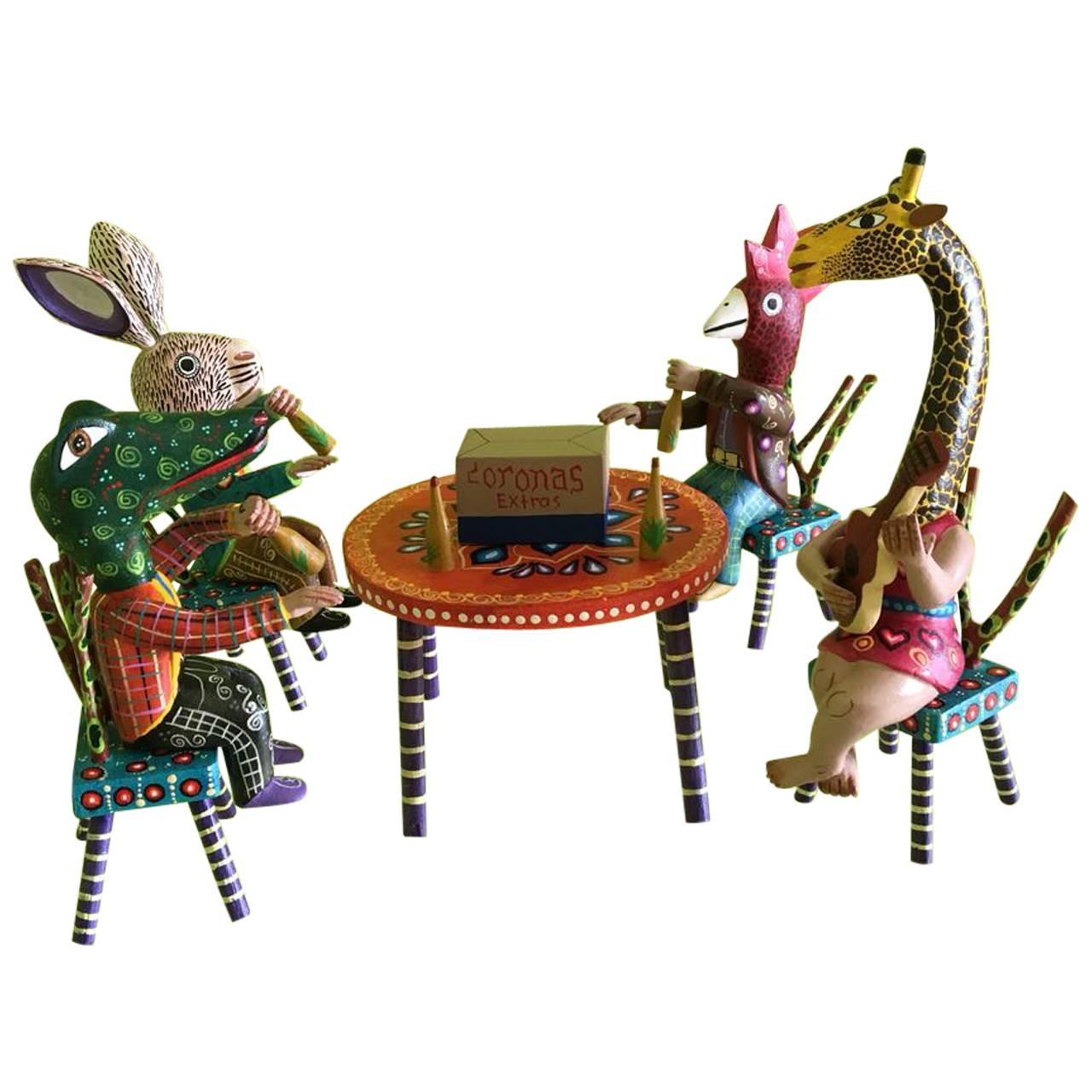 Mexican Abrijes Figurine Set Folk Art