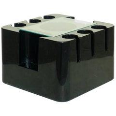 """Bacco"" Sergio Mazza by Studio Artemide Black Plastic Bar Cart Table"