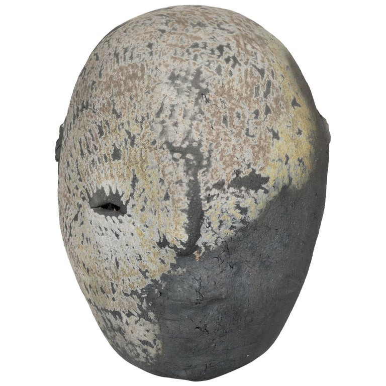 1970s Abstract Ceramic Head Sculpture