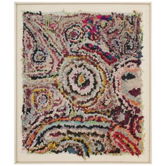 Title Square Zindekh Multicolors Tapestry  Boucherouite Inspiration