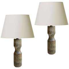 Svelte Danish Modern Pair of Rubus Series Table Lamps by Gunnar Nylund