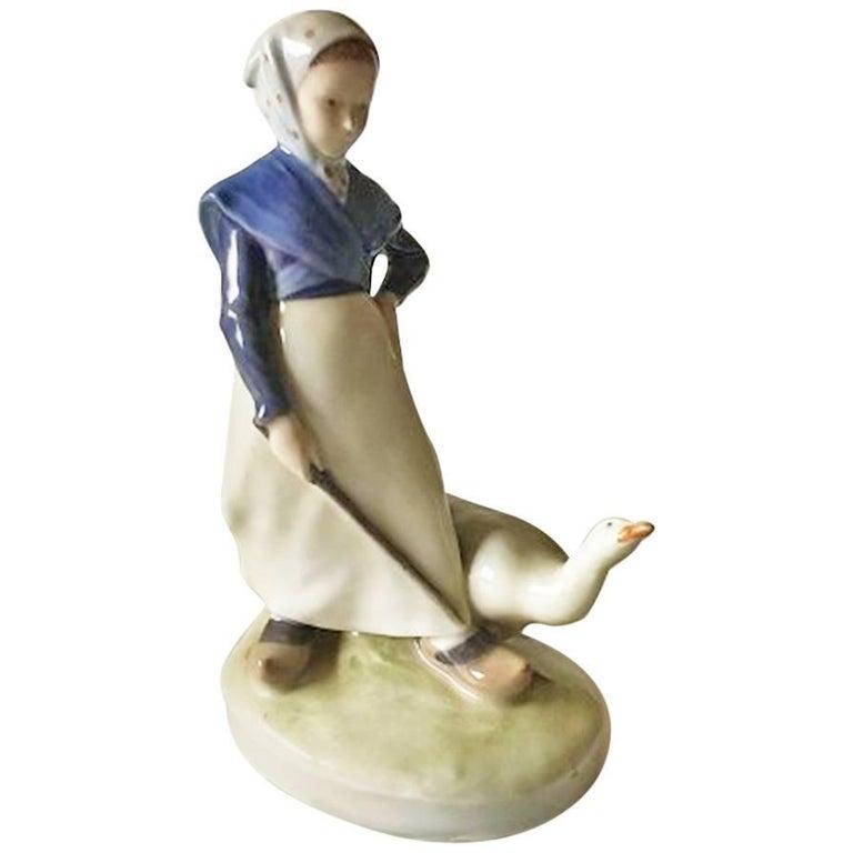 Royal Copenhagen Figurine Goose Girl