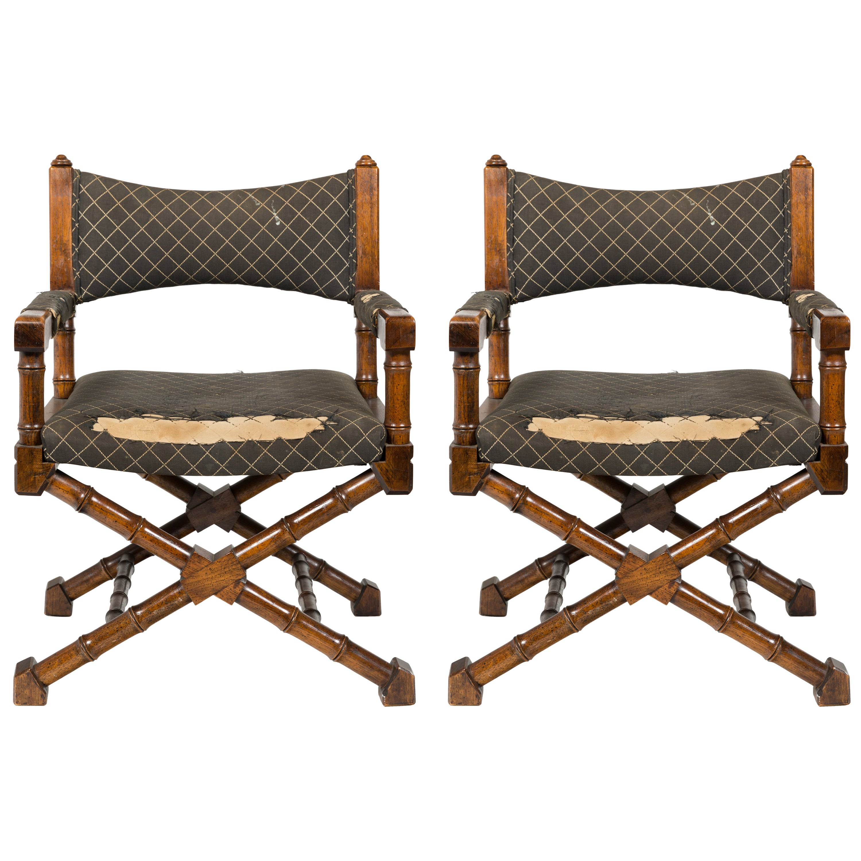 Pair of 1970s Campaign Chairs