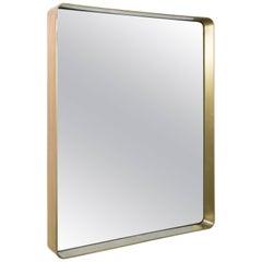 Modern Brass Framed Mirror