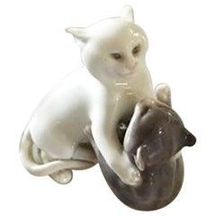 Royal Copenhagen Figurine of Playing Cats