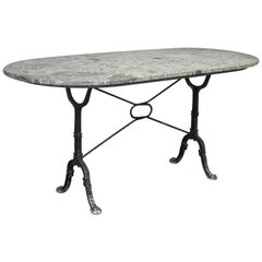 Oval Marble Top Bistro Garden Table