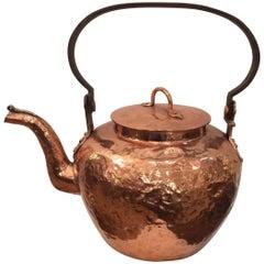 Wonderful Large Copper Kettle Teapot