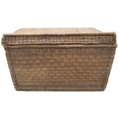 Large Wicker Basket Trunk