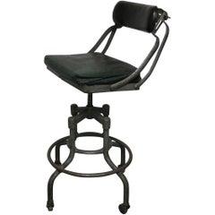 Vintage Fritz Cross Industrial Chair Stool St. Paul Minnesota