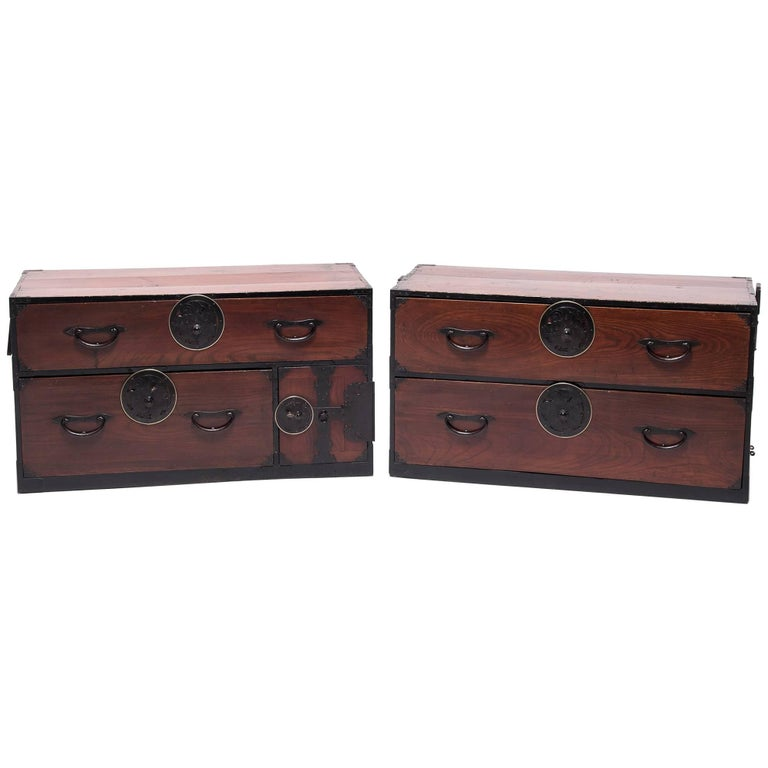 Pair of Mid-19th Century Japanese Tansu