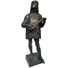 """Marioton SC French Bronze Sculpture Empire """"The Venetian"""", circa 1886"""