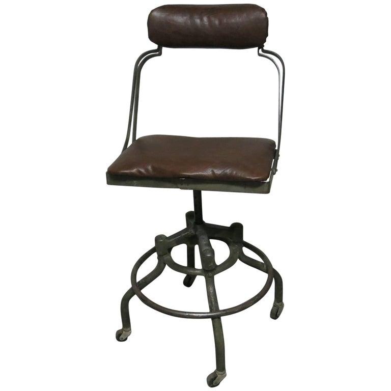 Vintage Fritz Cross Industrial Chair or Stool St. Paul Minnesota