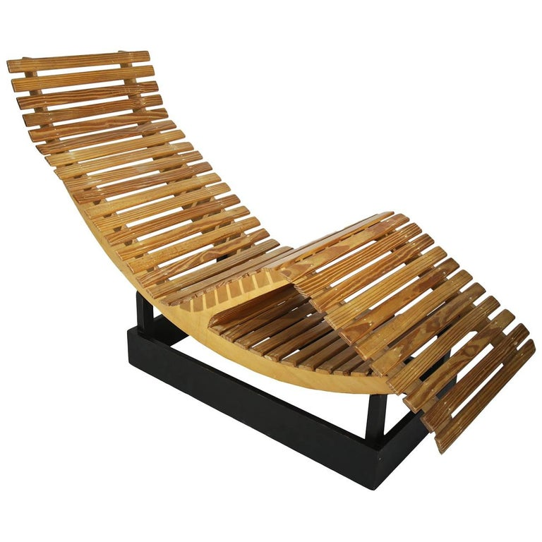 1960s French Prototype Chaise in Manner of Le Corbusier, Perriand and Jenneret