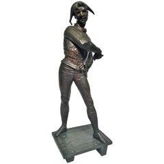 "Emile Laporte French Bronze Sculpture Empire ""The Venetian"", circa 1886"