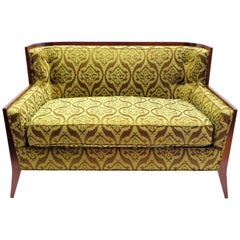 Rare Paul McCobb Loveseat Sofa with Walnut Frame