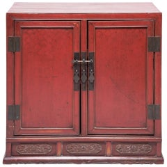 Mid-19th Century Chinese Cinnabar Book Chest