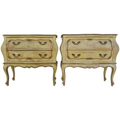 Mid-20th Century Pair of Italian Hand-Painted Bombay Chest
