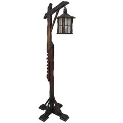 Mission Style Arts & Crafts Wooden Floor Lamp