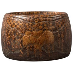 Japanese Wood and Lacquer Hand Warmer