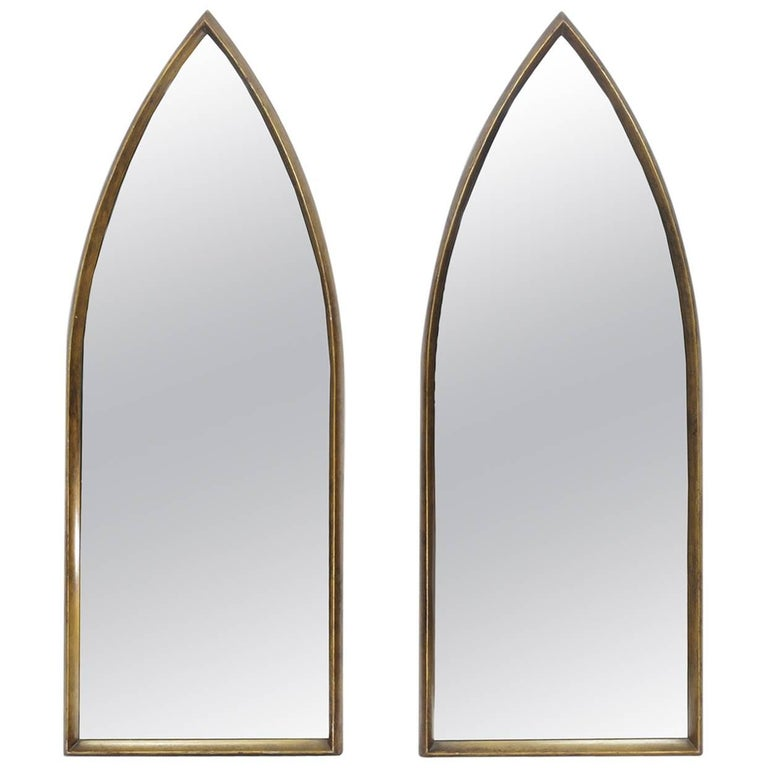 Pair Of Gilt La Barge Arched Hanging Wall Mirrors For Sale At 1stdibs