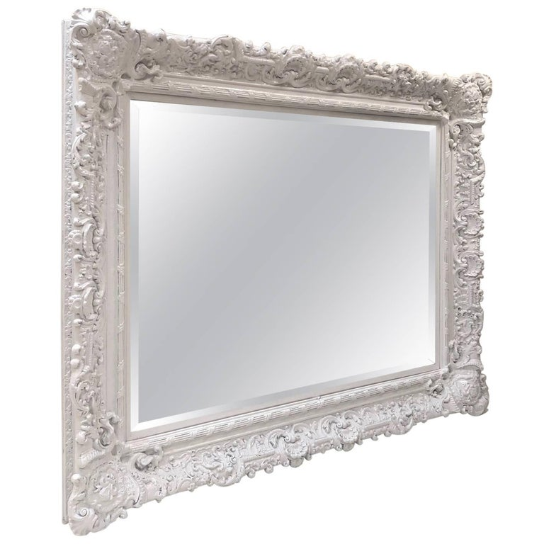 Large Ornate Decorative Mirror For Gold