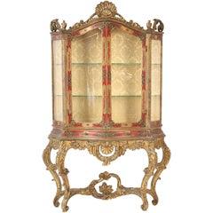 Italian Louis XV Style Display Cabinet