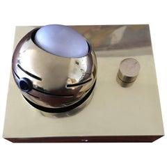 Brass Arredoluce Eyeball Table or Sconce Lamp, Italian Design 1970s Angelo Lelli