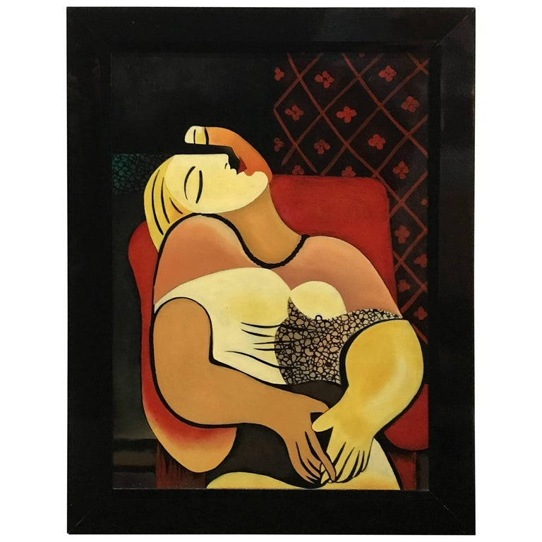 """Interpretation in Gloss Lacquer of Picasso's Painting """"Le Reve"""" For Sale"""