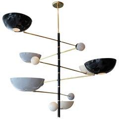 """Sculptural Italian """"Mobile"""" Chandelier"""