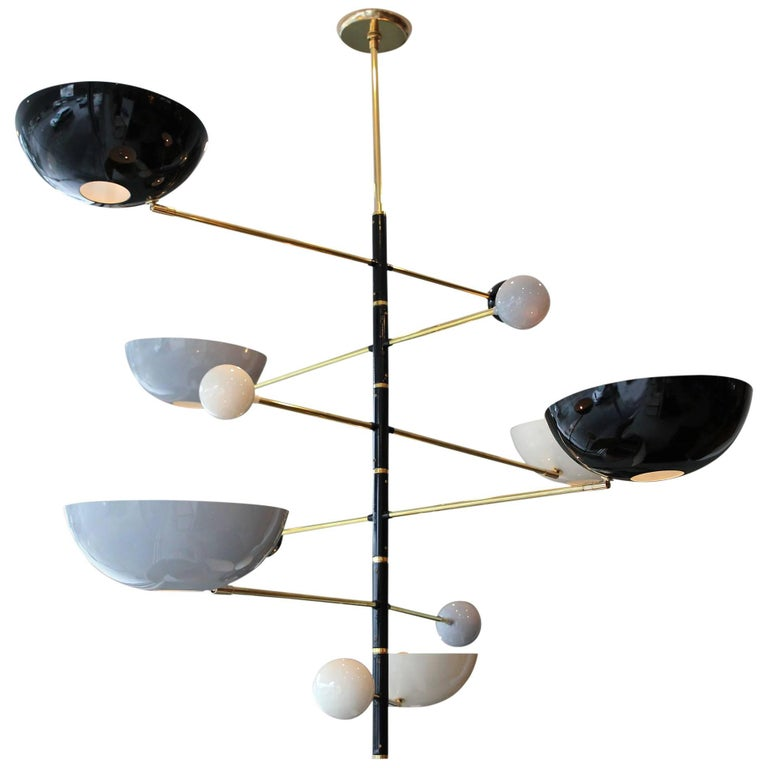 "Sculptural Italian ""Mobile"" Chandelier For Sale"