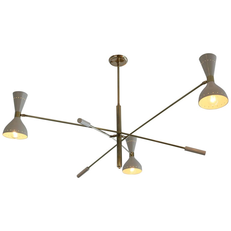 Italian Articulating Ceiling Light For Sale