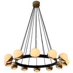 12 Globe Stilnovo Style Chandelier