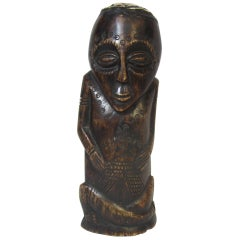 Polynesian Carved Bone Figure