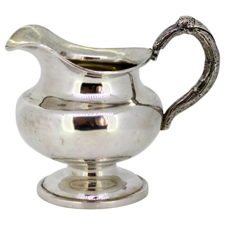 Antique Russian Silver Cream Jar, Assayed by Eduard Brandenburg, 1856