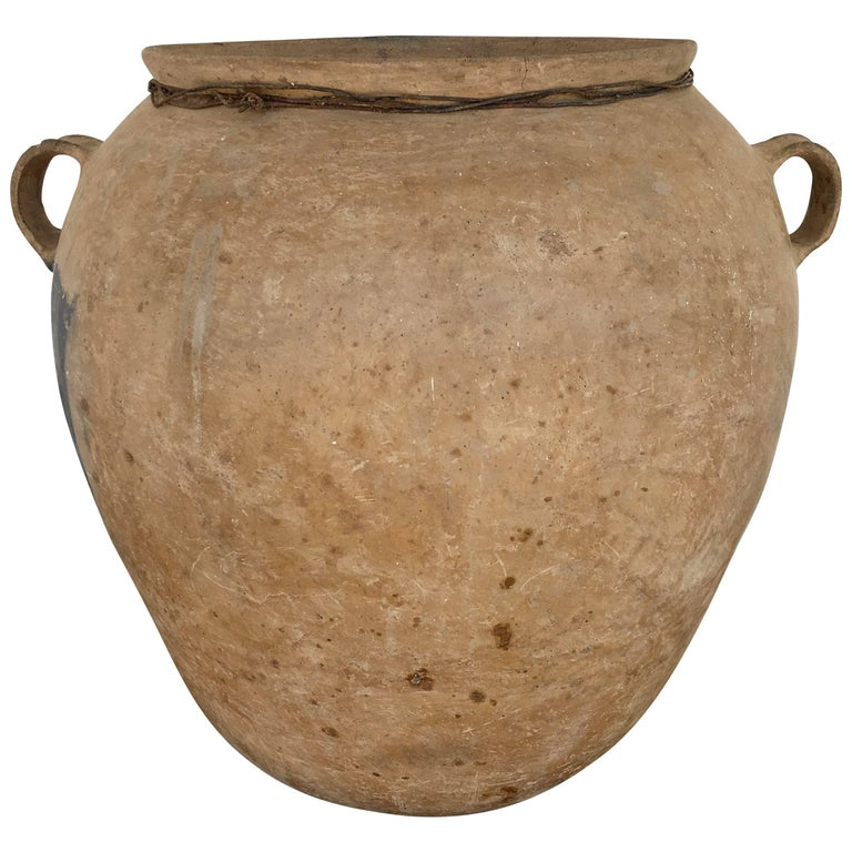 Traditional Ceramic Water Pot from the Puebla Highlands of Mexico