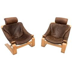 Kroken de Luxe Lounge Chair by Åke Fribytter for Nelo Möbel, 1970s