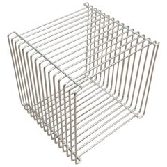 Verner Panton Chrome Wire Cube Shelf