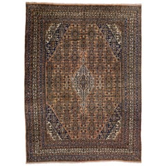 Vintage Persian Hamadan Area Rug with Traditional Neoclassical Style