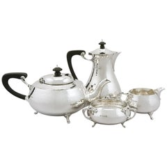 1931 Antique Sterling Silver Four Piece Tea and Coffee Service
