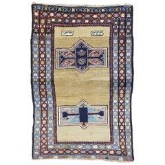 Antique Persian Azerbaijan Rug with Tribal Mid-Century Modern Style