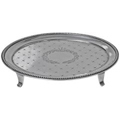 American Sterling Salver Tray Caldwell, circa 1890