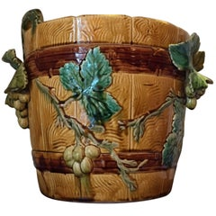 19th Century Planter with Vignes Decoration, Choisy-le-Roi
