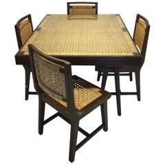 1960s Mexican Modernist Five-Piece Dining Set, Attributed to Michael Van Buren