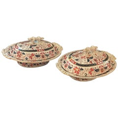 Pair of 19th Century Covered Dishes